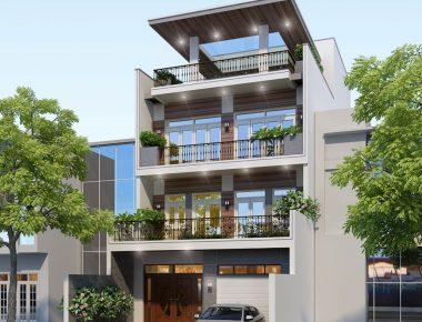 Thiết kế biệt thự phố 3 tầng 8x16m