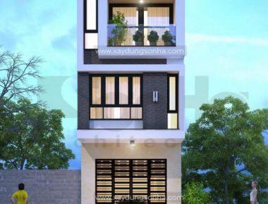 Thiết kế biệt thự hiện đại 3 Tầng – Cô Tuyết
