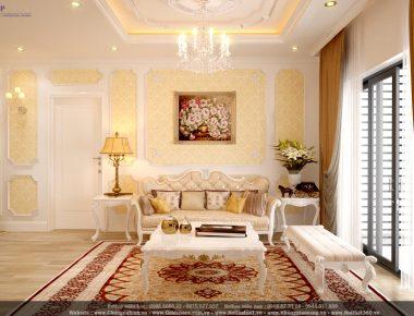 Phong cách thiết kế tân cổ điển căn hộ 09 tòa Ruby 4 – GoldMark City căn hộ 121 m2 Chị Huệ