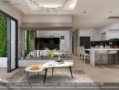Thiết kế nội thất chung cư Vinhomes Gardenia căn hộ 121 m2 Anh Bình Minh
