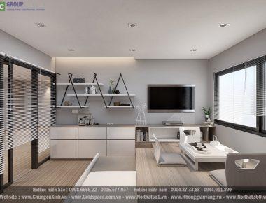 Đẳng cấp sang trọng trong thiết kế nội thất căn hộ chung cư Vinhomes Gardenia phong cách tân cổ điển