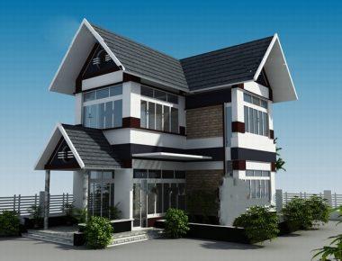 Biệt thự hiện đại 2 tầng 150m2 độc đáo