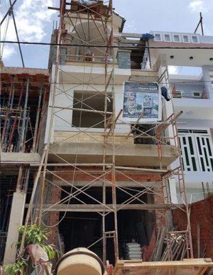 Thi công nhà ống diện tích 4,5x12m với 3 phòng ngủ tại Khâm Thiên