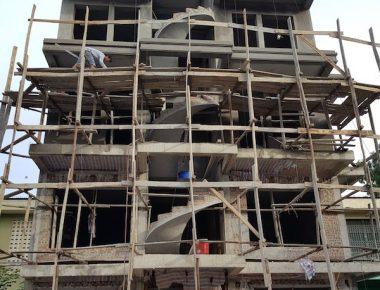 Thi công nhà phố 5 tầng tại Hoàng Mai – Hà Nội