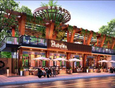 Thiết kế Cafe Sân Vườn BABYLON COFFEE