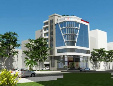 Mẫu thiết kế văn phòng cao ốc cho thuê hiện đại đẹp