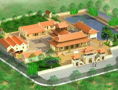 Mẫu thiết kế chùa Khai Long Tự tại Quảng Ninh