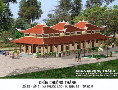 Mẫu thiết kế chùa đẹp tại Nhà Bè TP.HCM