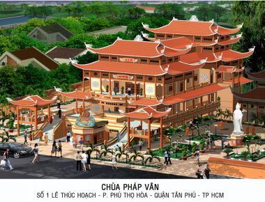 Mẫu thiết kế đình chùa đẹp độc đáo tại TP. HCM