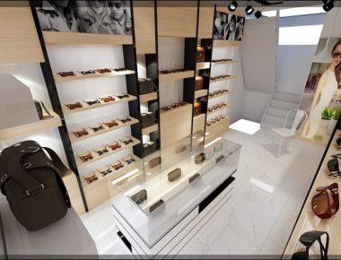 Thiết kế cửa hàng kính mắt VNS Đội Cấn