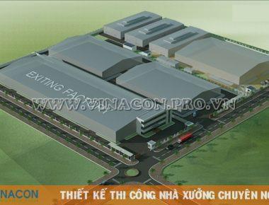 Thiết kế nhà xưởng Hanam Vina