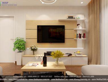 Thiết kế nội thất chung cư EcoLife Capitol căn hộ 75 m2 Anh Quang