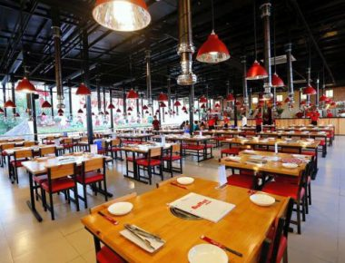 Thiết kế nội thất nhà hàng nướng không khói