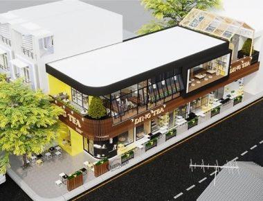 Thiết kế nội thất và thi công quán trà sữa DingTea