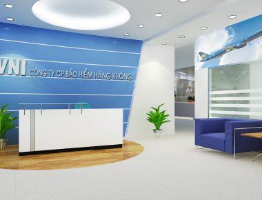 Thiết kế nội thất văn phòng bảo hiểm VNI