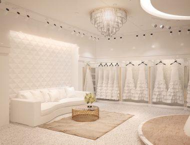 Thiết kế Showroom nội thất cửa hàng váy cưới cao cấp