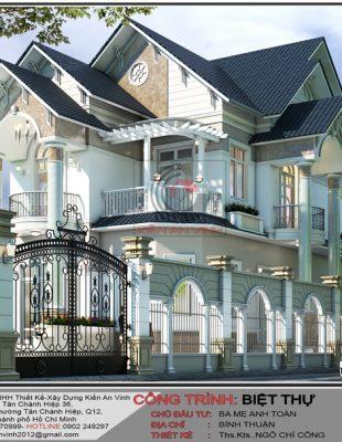 Thiết kế thi công khách sạn 6 tầng đẹp bán cổ điển