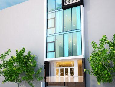 Thiết kế văn phòng công ty 5 tầng hiện đại, sang trọng