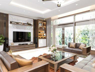 Thiết kế nội thất biệt thự  Vinhomes Thăng Long 129 m2