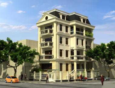 Thiết kế biệt thự 5 tầng đẹp theo phong cách hiện đại