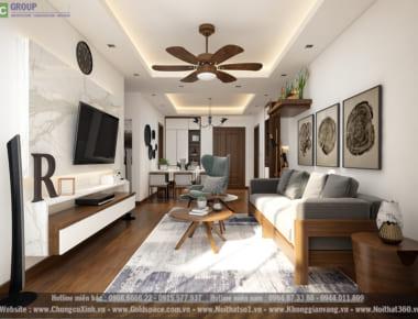 Thiết kế nội thất căn hộ chung cư An Bình City căn hộ 90.6 m2