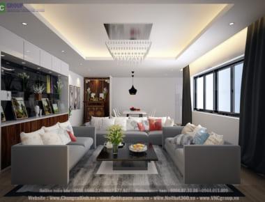 Thiết kế nội thất Chung Cư N03 – Lạc Trung