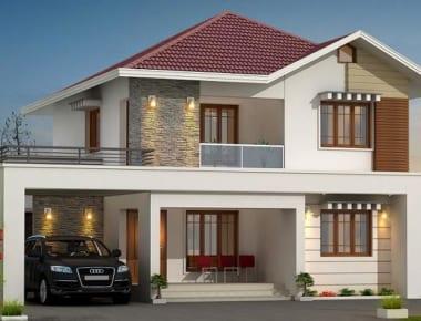 Dự toán chi tiết nhà 2 tầng diện tích 80 m2