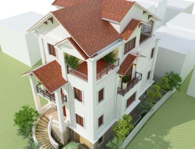 Thiết kế biệt thự 5 tầng Đội Cấn – Hà Nội