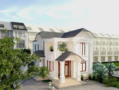 Thiết kế biệt thự đẹp 2 tầng – Đông Hưng – Thái Bình
