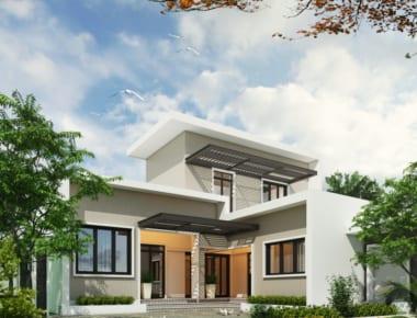 Thiết kế biệt thự đẹp 2 tầng Kiến Hưng – Hà Nội