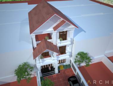 Thiết kế biệt thự đẹp 4 tầng tại Ninh Bình