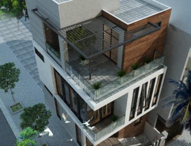 Thiết kế nhà đẹp Dương Nội 4 tầng diện tich 35m2