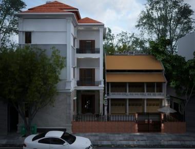 Thiết kế nhà phố diện tích 250m2 Thạch Thất – Hà Nội