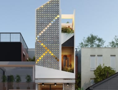 Thiết kế nhà phố diện tích 53m2 phong cách hiện đại