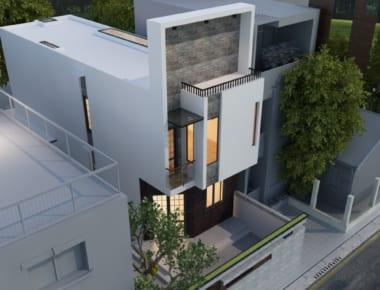 Thiết kế nhà 2 tầng diện tích 60m2  – Đông Anh – Hà Nội