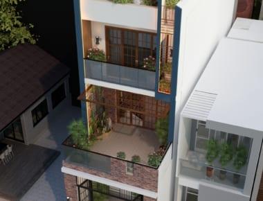 Thiết kế nhà phố diện tích 80m2 Long Biên – Hà Nội