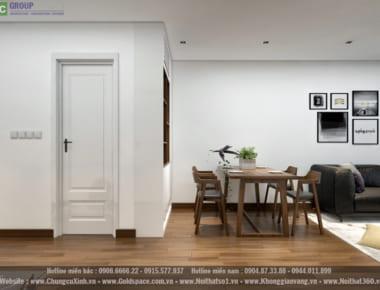 Thiết kế nội thất căn hộ chung cư An Bình City căn hộ 2 phòng ngủ diện tích 73.3 m2