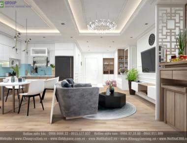 Thiết kế nội thất căn hộ chung cư An Bình City diện tích 90.6 m2