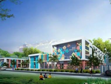 Thiết kế trường mầm non Hoa Sen