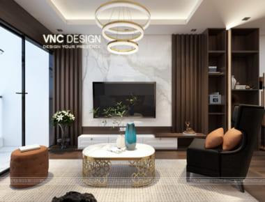 Thiết kế nội chungcư Goldseason 47 Nguyễn Tuân – căn hộ 109.09 m2 tòa Summer 2