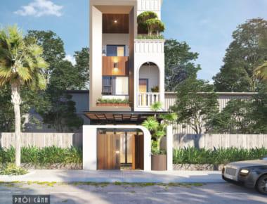"""Mẫu nhà phố 5x12m 3 tầng hiện đại đẹp """"không góc chết"""""""