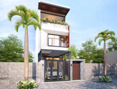 Mẫu thiết kế nhà phố 3 tầng 4x20m hiện đại đẹp đầy đủ công năng