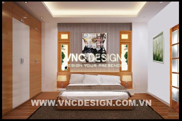 nội thất phòng ngủ biệt thự 2 tầng 7x16m