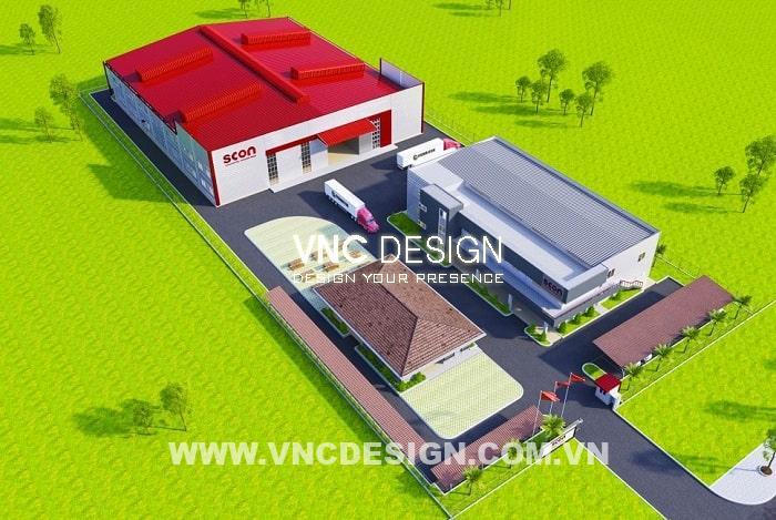 Mẫu thiết kế Nhà Máy SCON