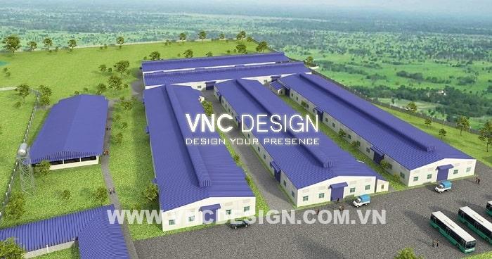 Mẫu Thiết kế nhà xưởng Dream Mekong