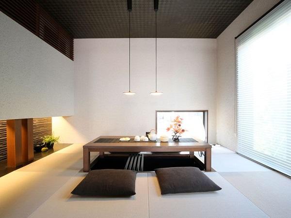 Mẫu 10 - Thiết kế bàn ngồi bệt phòng khách đẹp