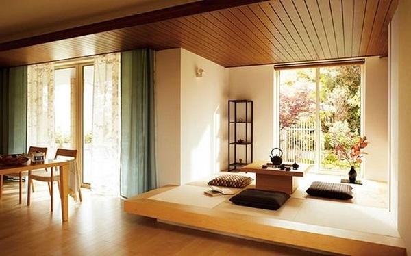 Mẫu 13 - Một trong các phòng khách ngồi bệt lý tưởng với góc view đẹp