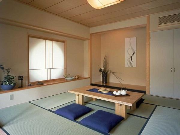 Mẫu 19 - Thiết kế phòng khách đơn giản với bàn trà ngồi bệt