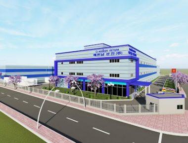 Thiết kế nhà xưởng công ty Hosiden Vina Project